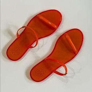 Tory Burch jelly slides, size 6